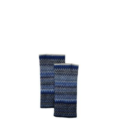Midnight Faith Wool/Angora Knitted Fingerless Gloves