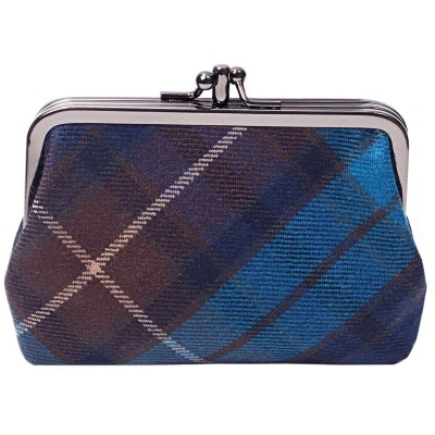 Buchanan Blue Tartan Double Medium Purse
