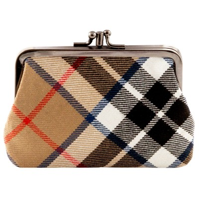 Thomson Camel Modern Tartan Double Medium Purse