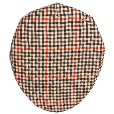 Denholm Check Tweed Barnton Flat Cap