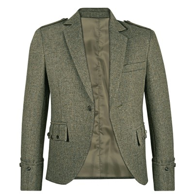 Herringbone Tyne Waverley Tweed Argyll Kilt Jacket