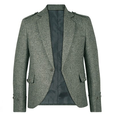 Herringbone Tay Waverley Tweed Argyll Kilt Jacket
