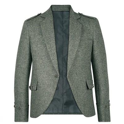 Herringbone Tay Waverley Tweed Argyll Kilt Jacket
