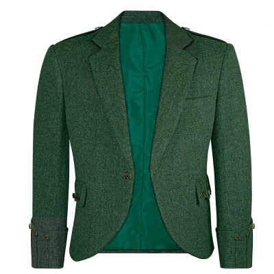 Estate Managers Green Shetland Tweed Argyll Kilt Jacket
