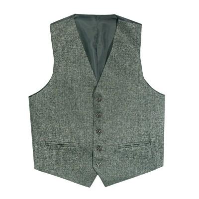 Herringbone Tay Waverley Tweed 5 Button Kilt Waistcoat