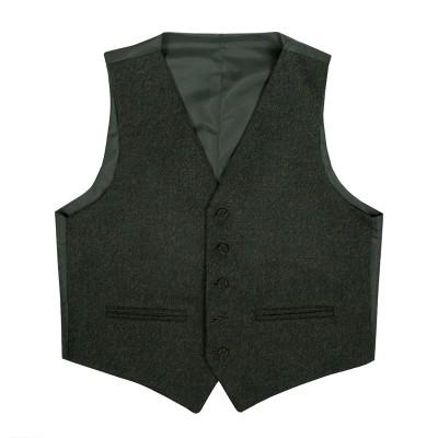 Herringbone Talla Waverley Tweed 5 Button Kilt Waistcoat
