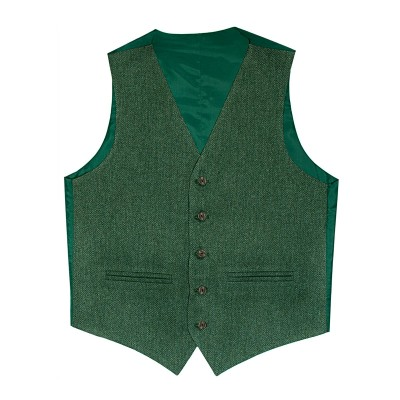 Estate Mangers Green Shetland Tweed 5 Button Kilt Waistcoat