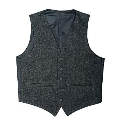 Porters Grey Shetland Tweed 5 Button Kilt Waistcoat