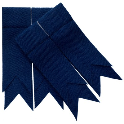 Navy Blue Plain Coloured Garter Double Flashes