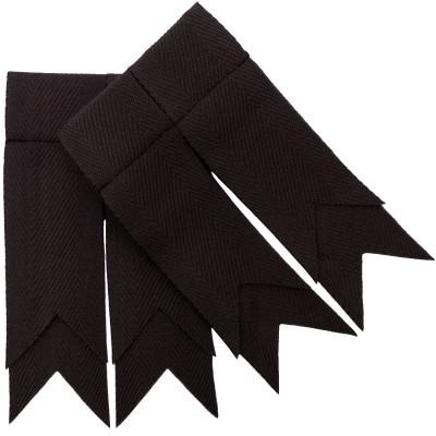 Black Plain Coloured Garter Double Flashes