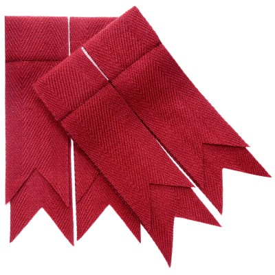 Red Weathered Plain Coloured Garter Double Flashes