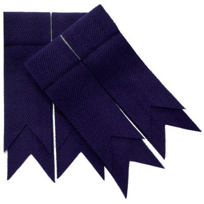 Purple Plain Coloured Garter Double Flashes