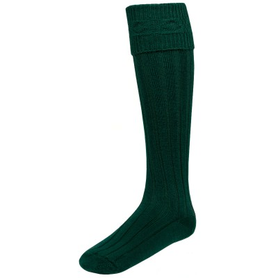 Kilt Hose Bottle Green - Side View