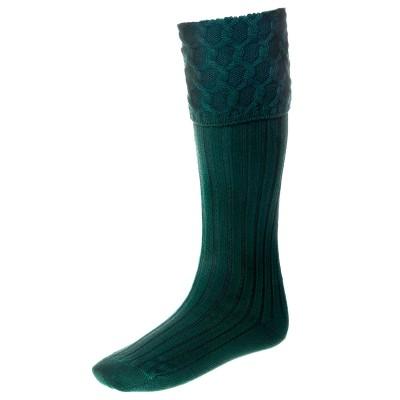 Lewis Luxury Kilt Hose Tartan Green
