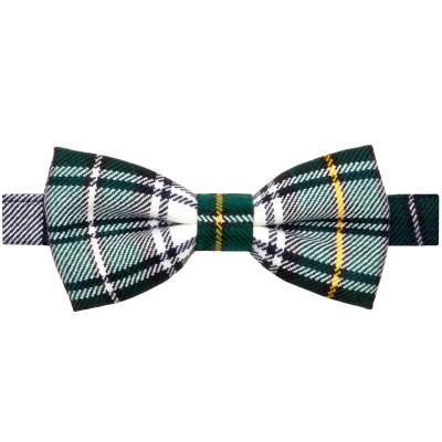 Campbell Dress Modern Tartan Mens Wool Bow Tie - Front