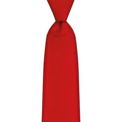 Scarlet Plain Coloured Wool Tie