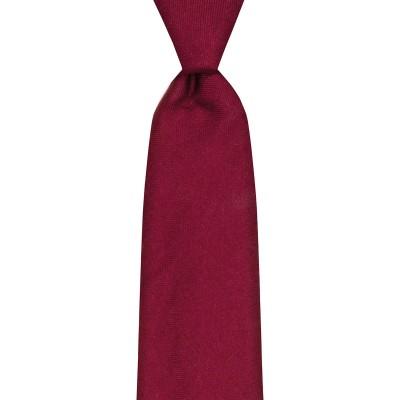 Maroon Plain Coloured Wool Tie