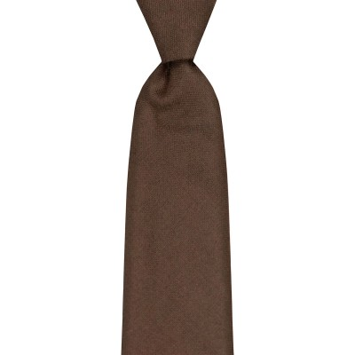 Green Weathered Plain Coloured Wool Tie