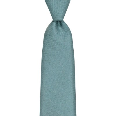 Blue Weathered Plain Coloured Wool Tie