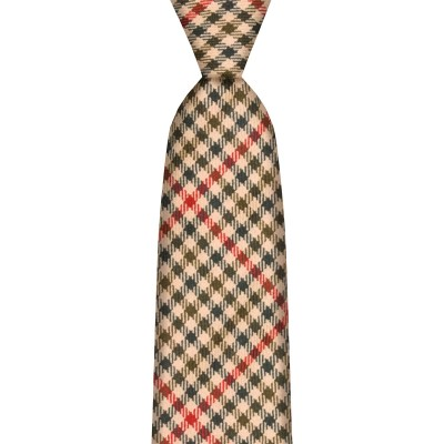 St Abbs Estate Check Tweed Wool Tie