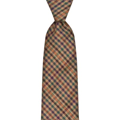 Ednam Estate Check Tweed Wool Tie