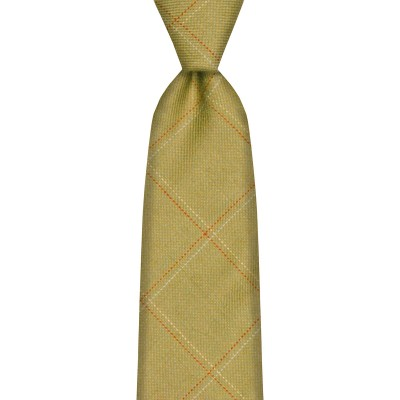 Heriot Estate Check Tweed Wool Tie