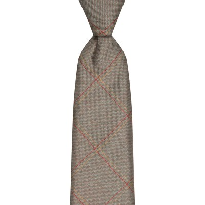 Oban Estate Check Tweed Wool Tie