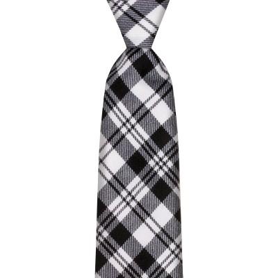 Scott Black/White Modern Tartan Tie