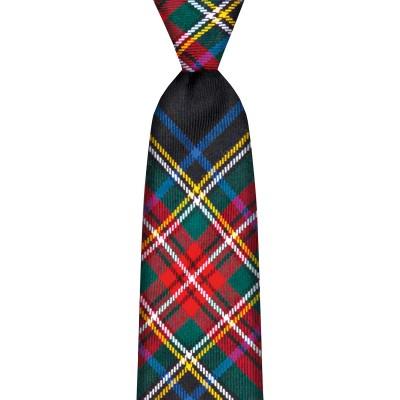 Stewart Black Modern Tartan Tie