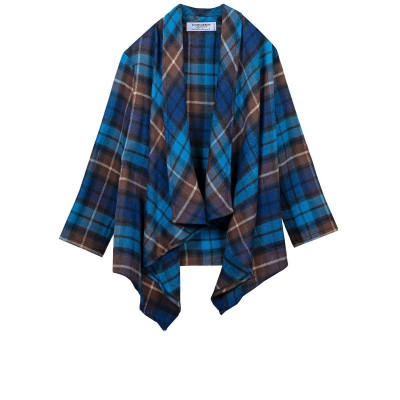 Buchanan Blue Tartan Lambswool Kerry Jacket