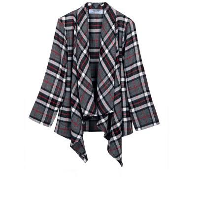 Thomson Grey Tartan Lambswool Kerry Jacket