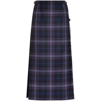 Ladies Tartan Hostess Maxi Skirt - Front