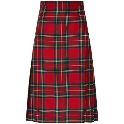 Ladies Tartan Semi Kilted Skirt - Front
