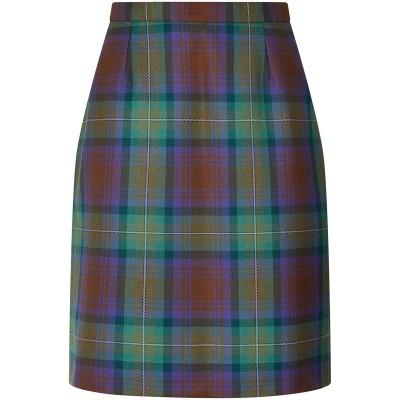 Laura Skirt - Ladies Tartan Straight Skirt - Front