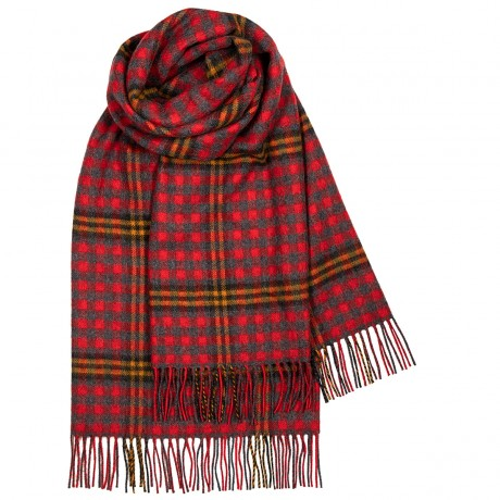 Red Red Rose Tartan Lambswool Stole