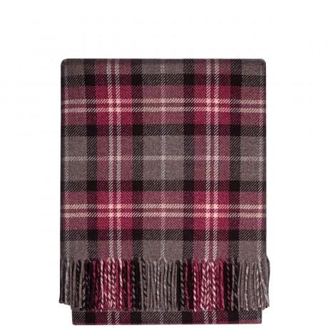 Fleur Clover Check Wool Blanket