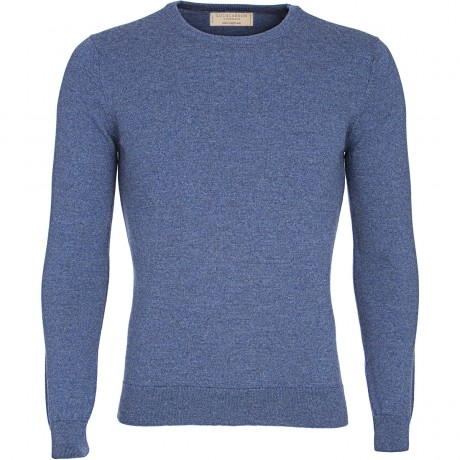 Fitted Mens Merino Crew Neck Jumper