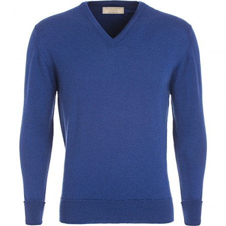 Mens Blended Merino V-Neck Jumper