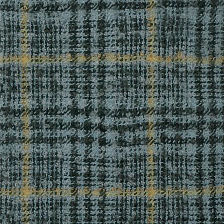 Silver Glen Check Wool Mohair Loop Tweed Fabric