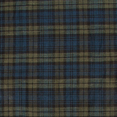 Black Watch Modern Tartan Lightweight Linen Fabric