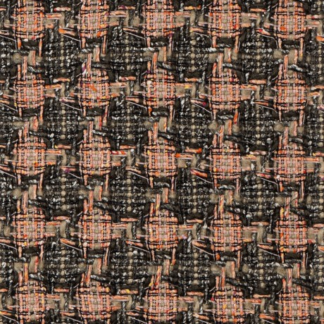 Pink/Mineral Check Wool Tweed Fabric