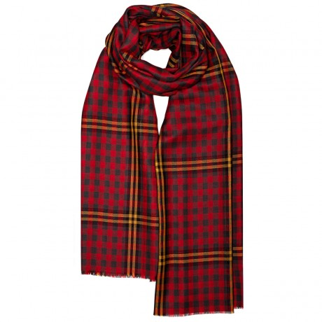 Red Red Rose Tartan Extra Fine Merino Stole