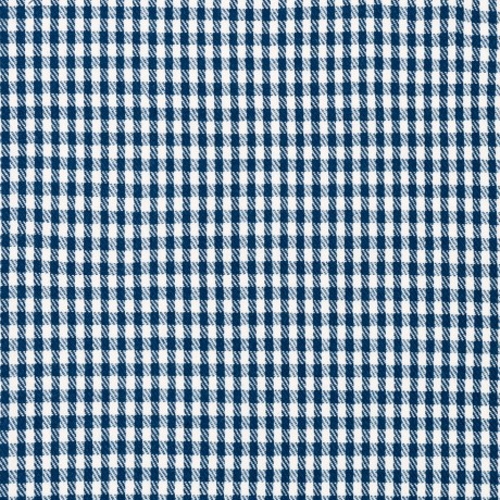 Navy/White Houndstooth Light Weight Tweed Fabric