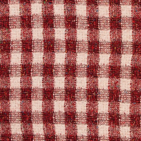 Rosso Square Wool Jacketing Fabric