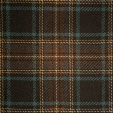 Bracken Stewart Cocoa Heavyweight Wool Tartan Fabric
