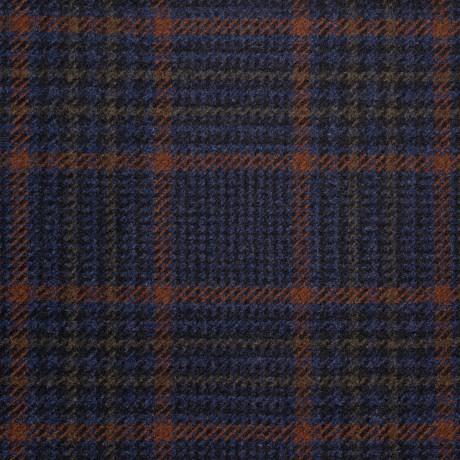 Bracken Country Glen Check Heavyweight Wool Fabric