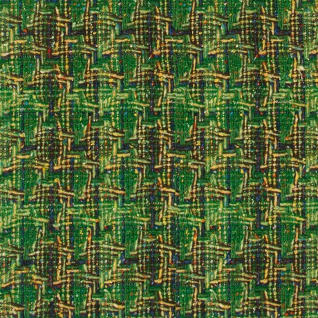 Donegal Green Multi Wool Jacketing Fabric
