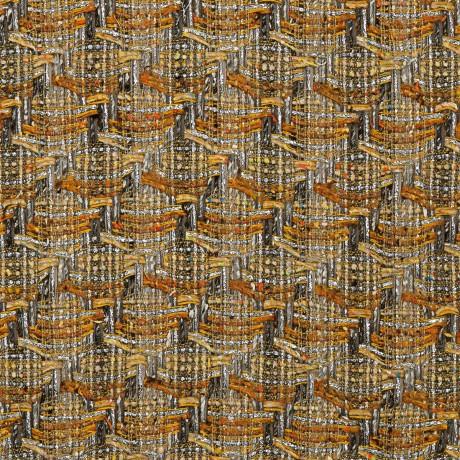 Grey/Gold Check Sorbet Tweed Fabric