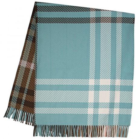 Darcy Lochcarron Opal Tartan  Luxury Superfine Wool Throw