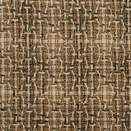 Donegal Shine Camel Check Tweed Fabric